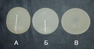 Анатомические каплевидные имплантанты груди различных размеров